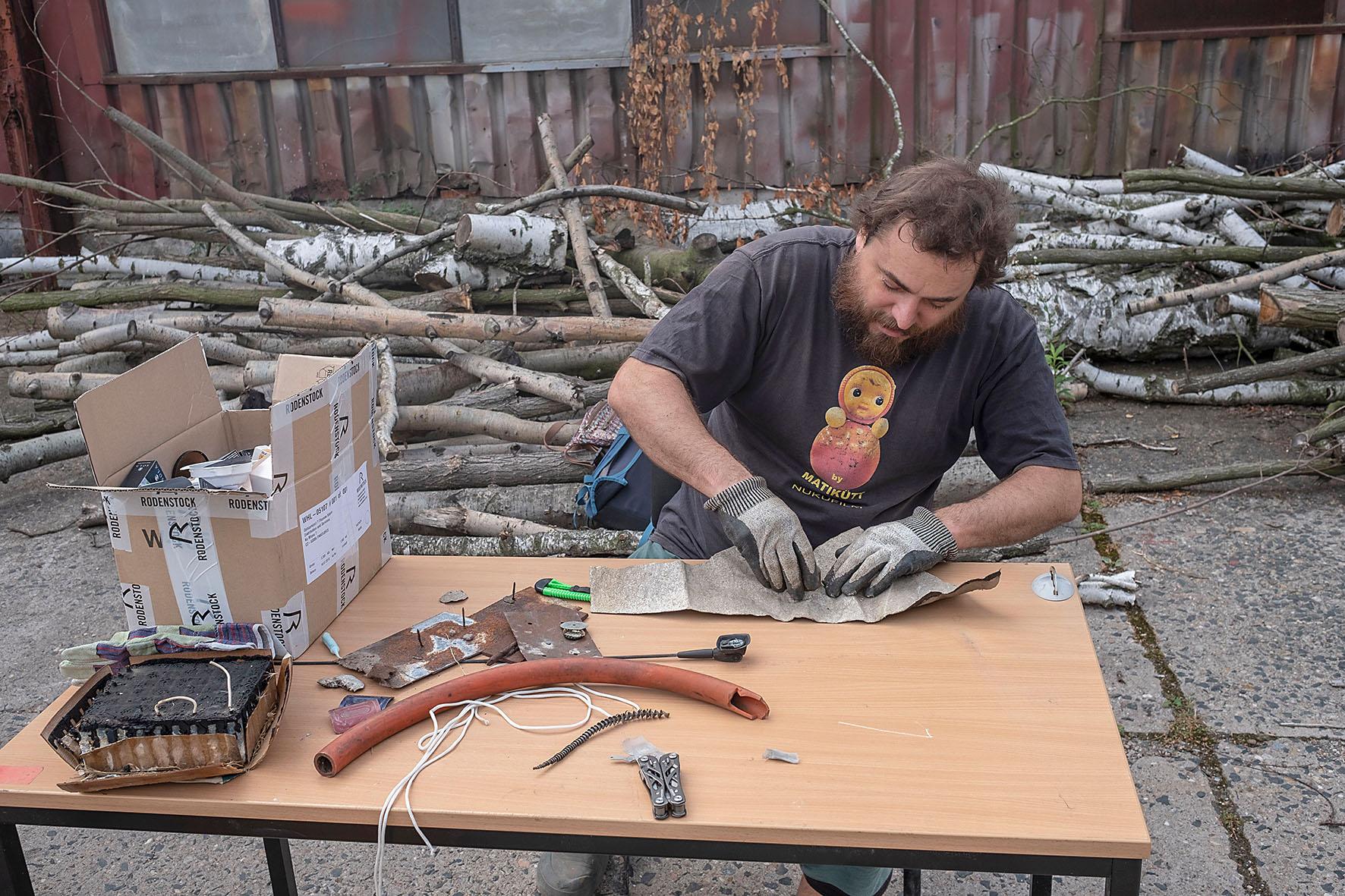 Robert Smolík při práci