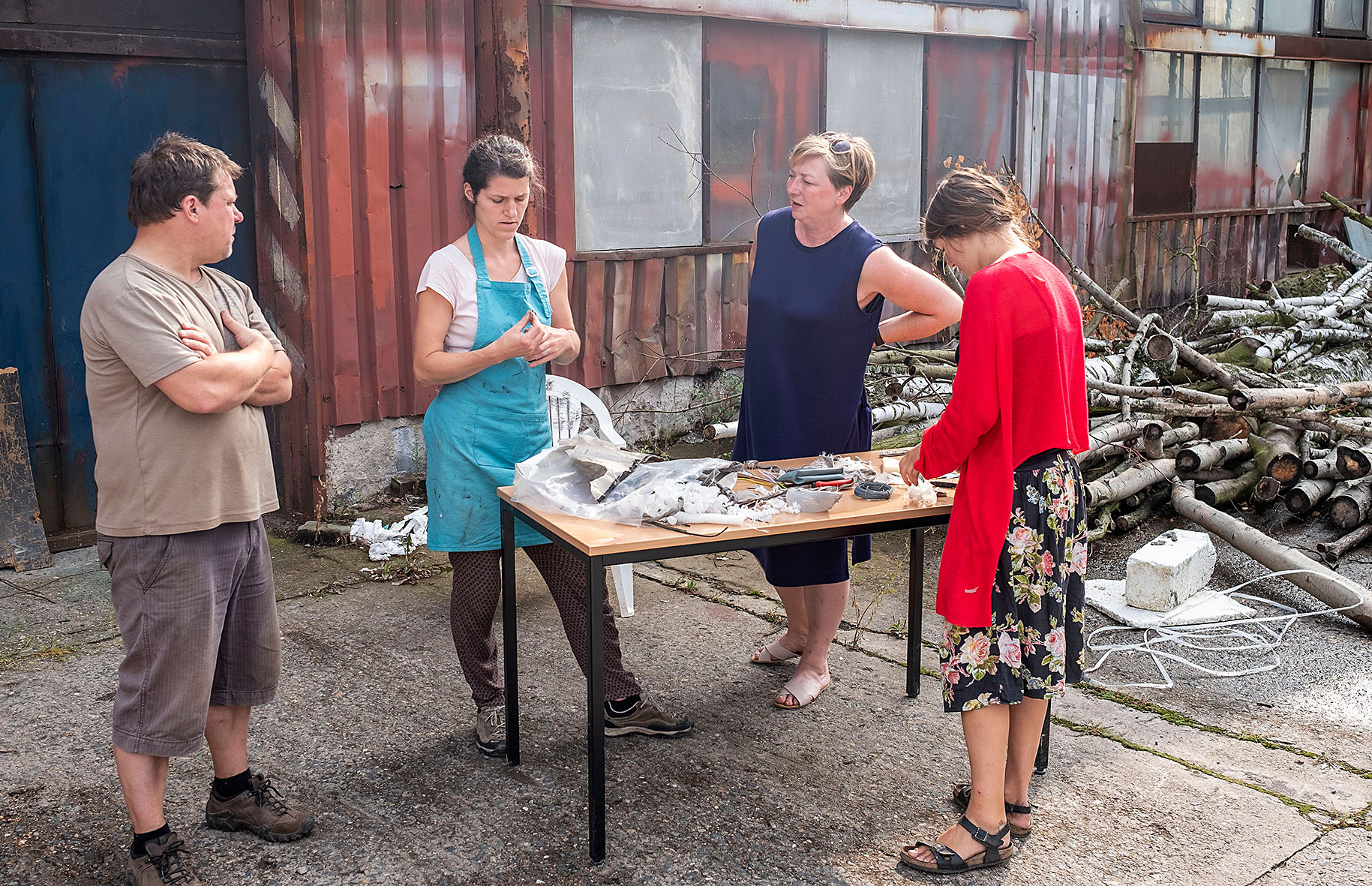 Naši hosté při práci (zleva): Marek Rejent, Anička Krtičková-Fukátková, Anička Krtičková-Fukátková, Zuzana Vítková